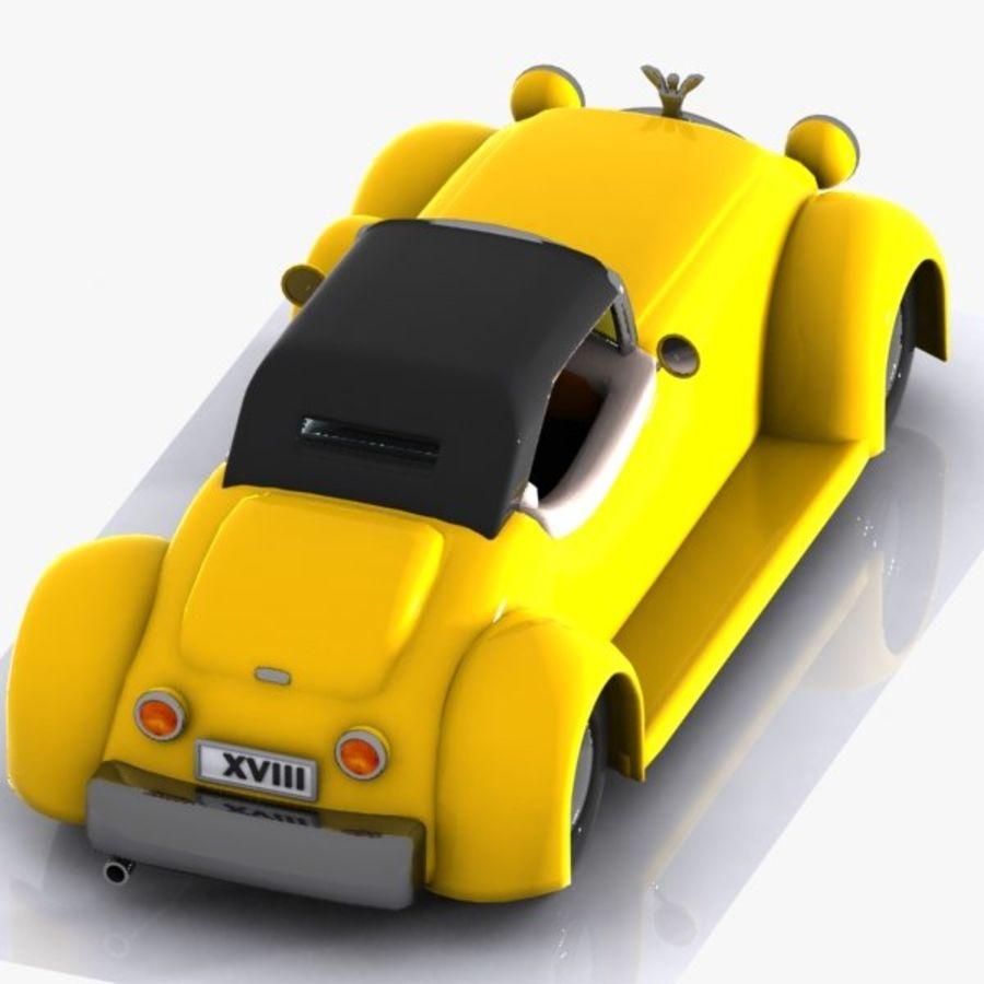 Cartoon Classic Car royalty-free 3d model - Preview no. 9