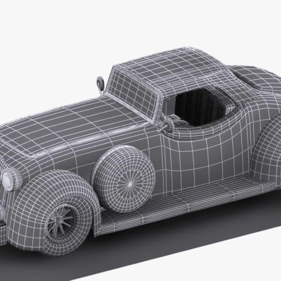 Cartoon Classic Car royalty-free 3d model - Preview no. 17