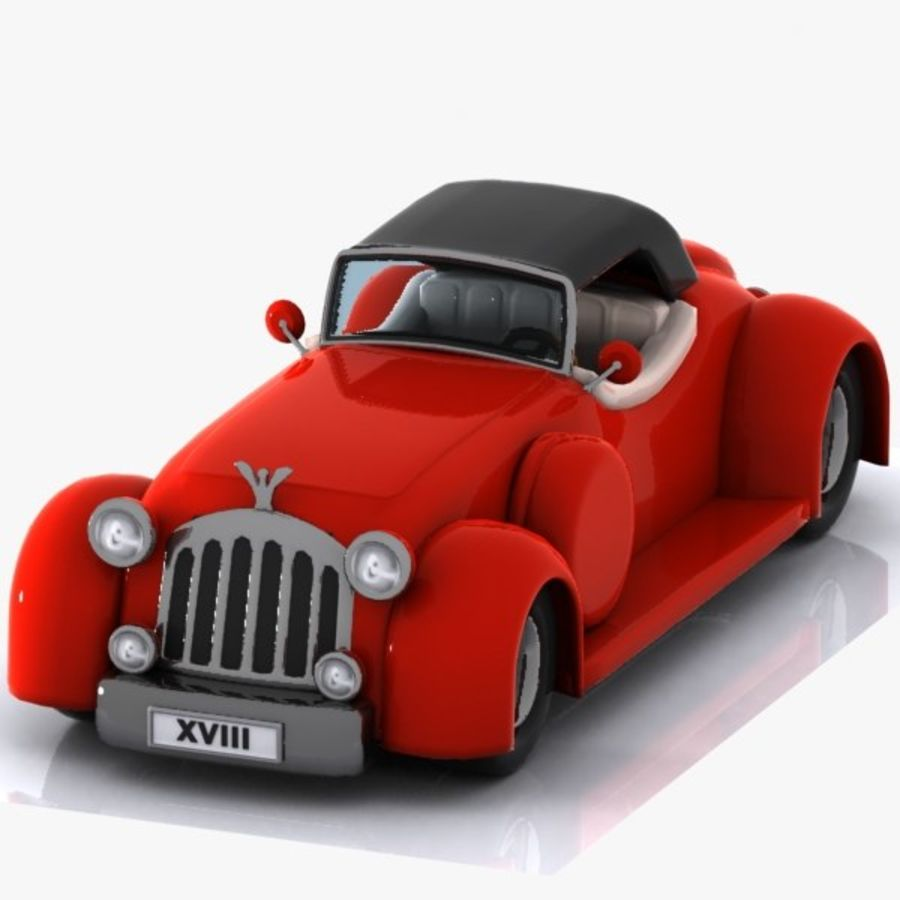 Cartoon Classic Car royalty-free 3d model - Preview no. 5