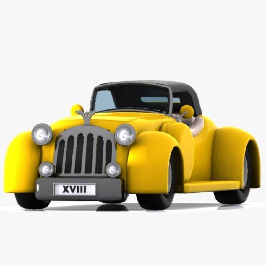 Cartoon Classic Car royalty-free 3d model - Preview no. 12