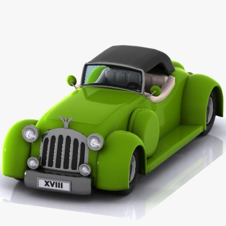 Cartoon Classic Car royalty-free 3d model - Preview no. 4