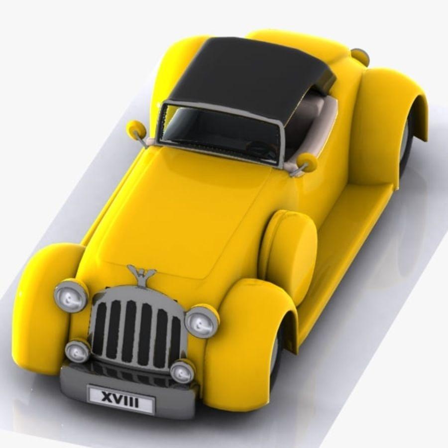 Cartoon Classic Car royalty-free 3d model - Preview no. 8