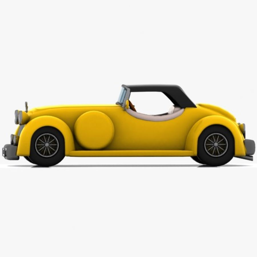 Cartoon Classic Car royalty-free 3d model - Preview no. 11