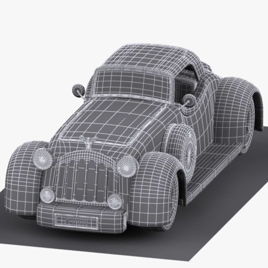 Cartoon Classic Car royalty-free 3d model - Preview no. 13