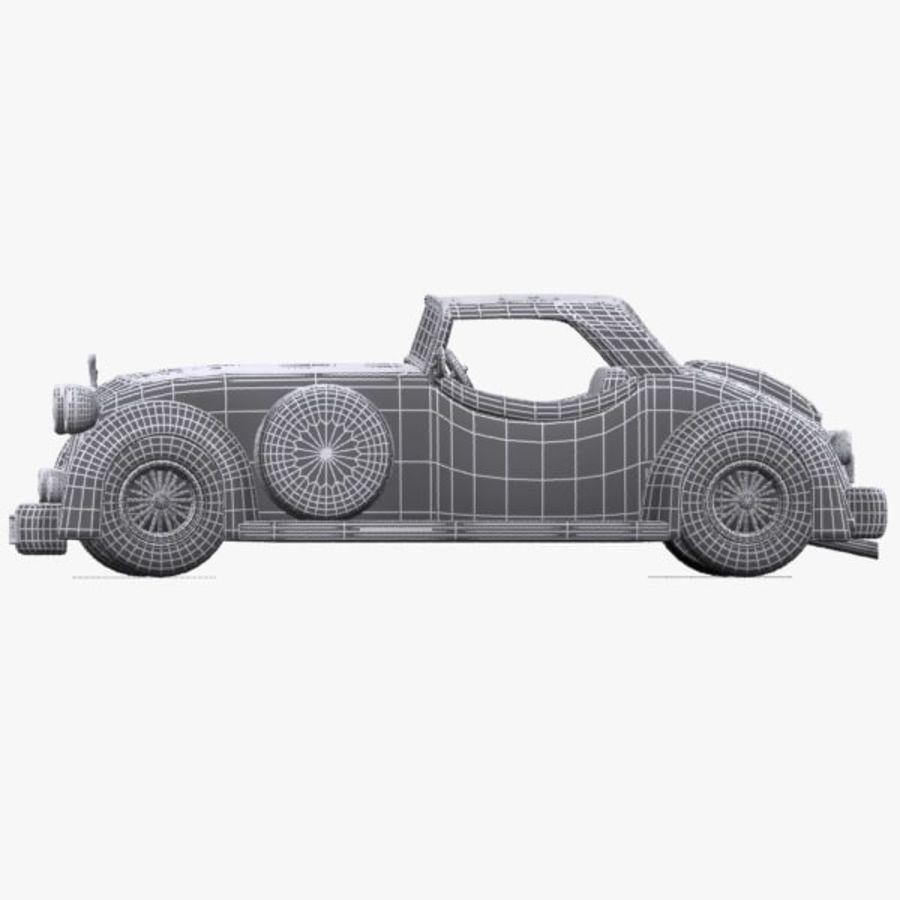 Cartoon Classic Car royalty-free 3d model - Preview no. 16