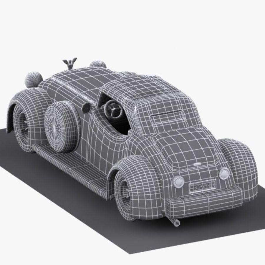 Cartoon Classic Car royalty-free 3d model - Preview no. 15