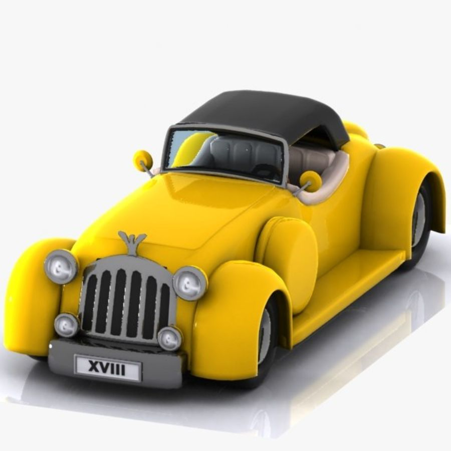 Cartoon Classic Car royalty-free 3d model - Preview no. 1