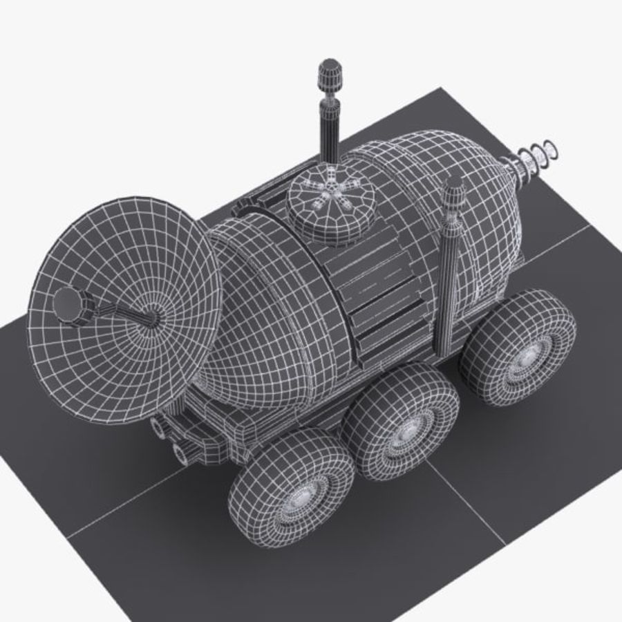 Cartoon Space Car 1 royalty-free 3d model - Preview no. 11
