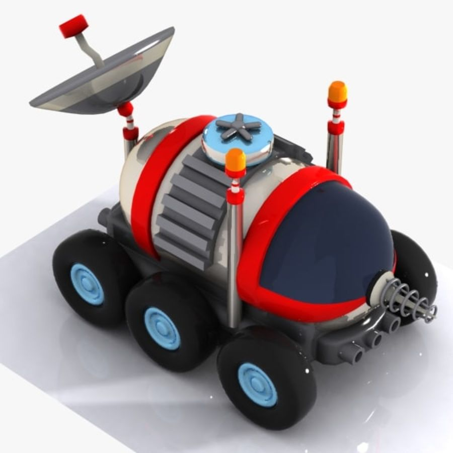 Cartoon Space Car 1 royalty-free 3d model - Preview no. 3