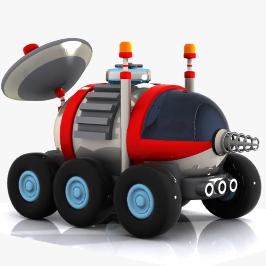 Cartoon Space Car 1 royalty-free 3d model - Preview no. 1