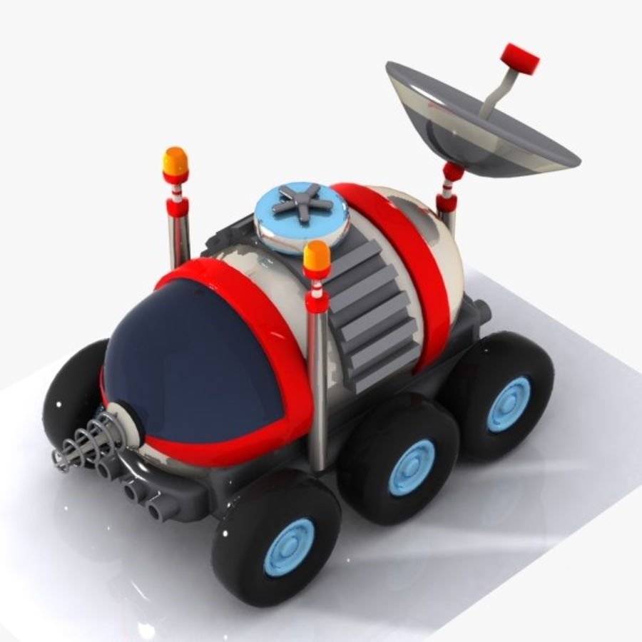 Cartoon Space Car 1 royalty-free 3d model - Preview no. 8