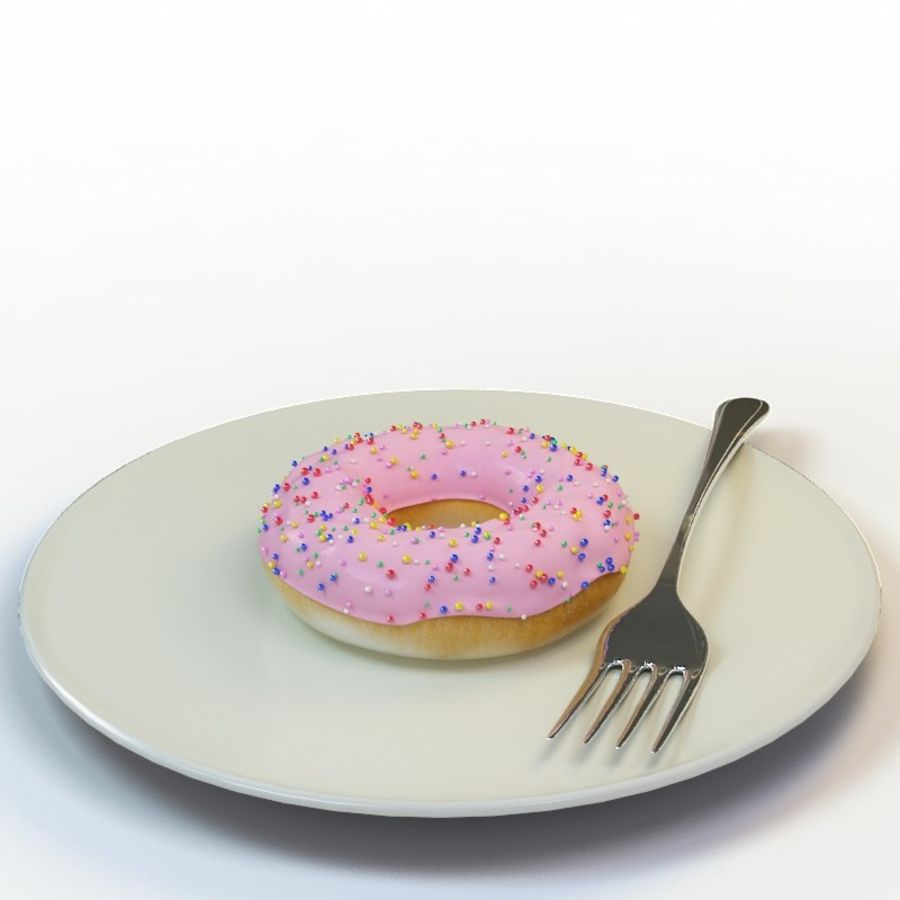 Donut_09 royalty-free 3d model - Preview no. 2
