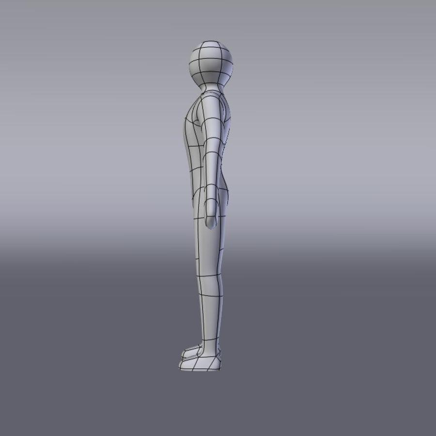 Enkel karaktär royalty-free 3d model - Preview no. 4