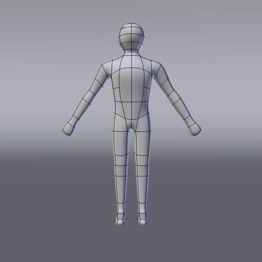 Enkel karaktär royalty-free 3d model - Preview no. 5