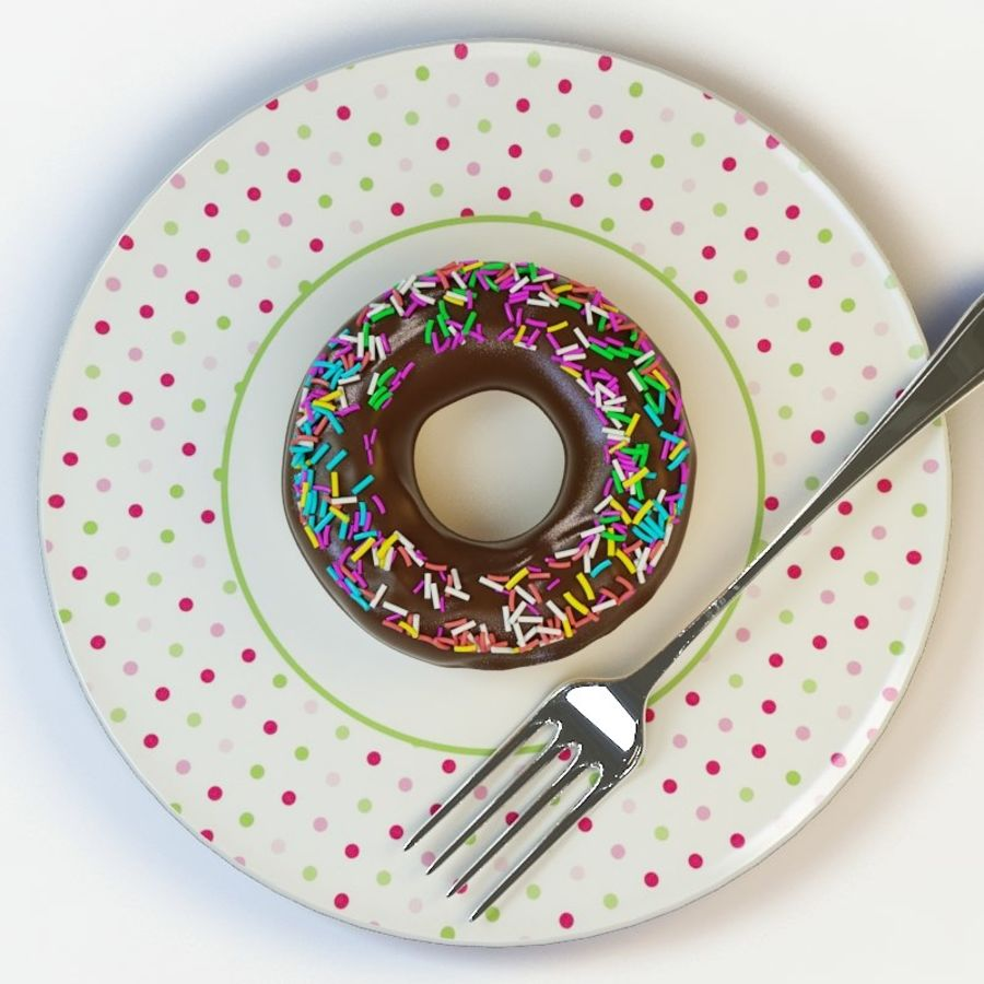 Donut_08 royalty-free 3d model - Preview no. 3