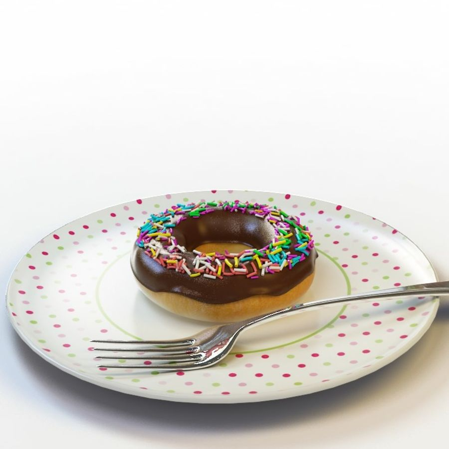Donut_08 royalty-free 3d model - Preview no. 1