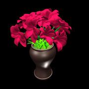 röd blomma 3d model