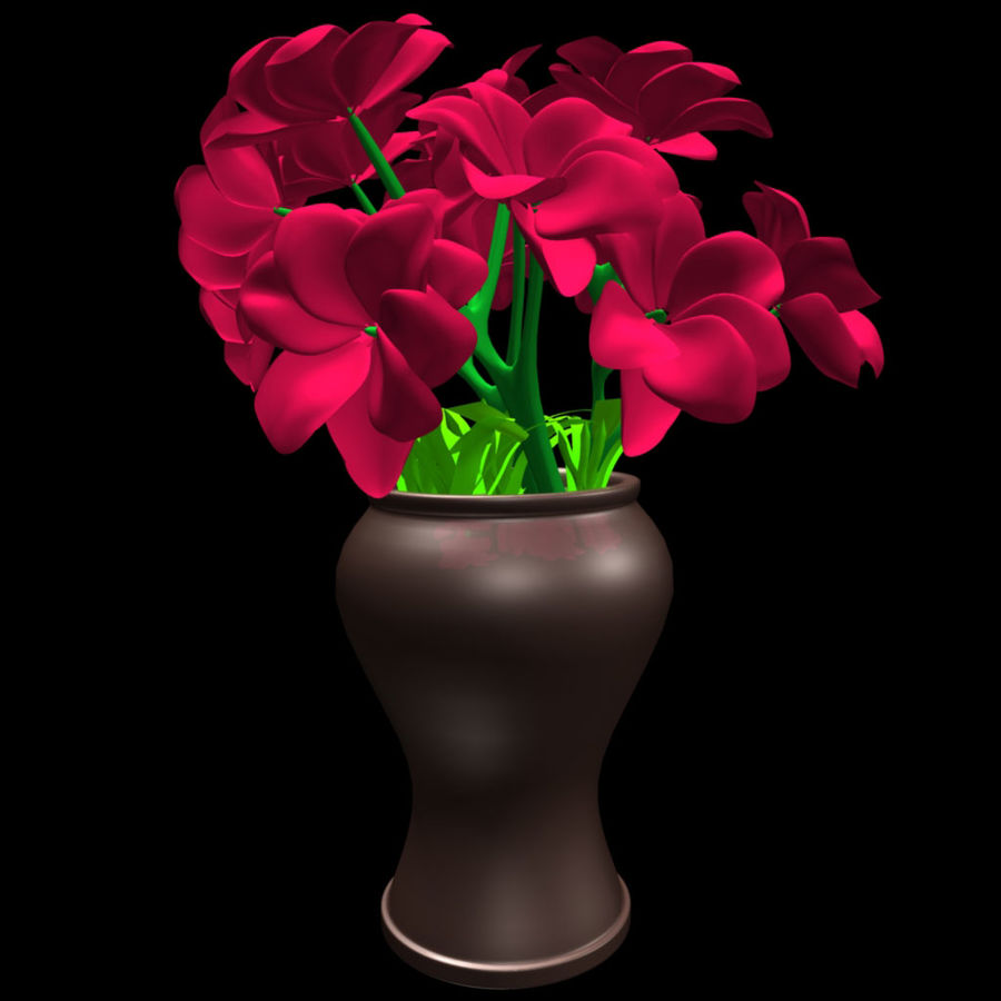 röd blomma royalty-free 3d model - Preview no. 6