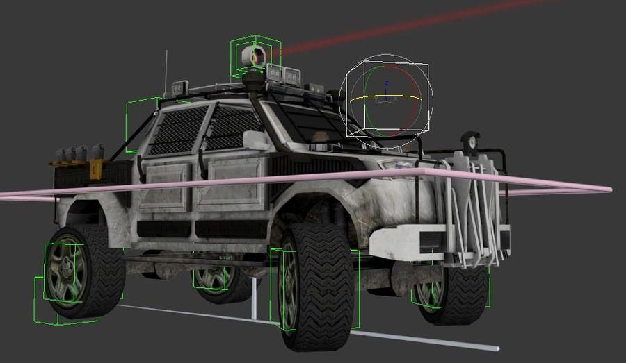 Car war royalty-free 3d model - Preview no. 6