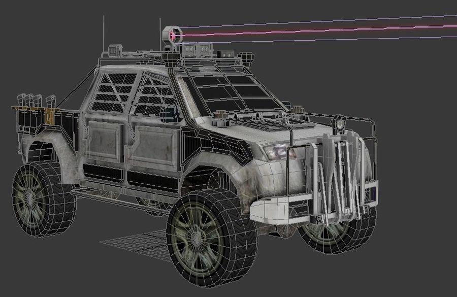 Car war royalty-free 3d model - Preview no. 15