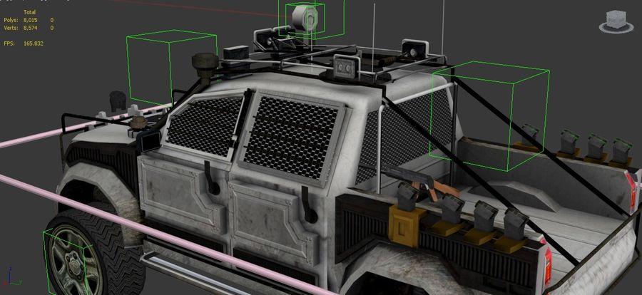 Car war royalty-free 3d model - Preview no. 9