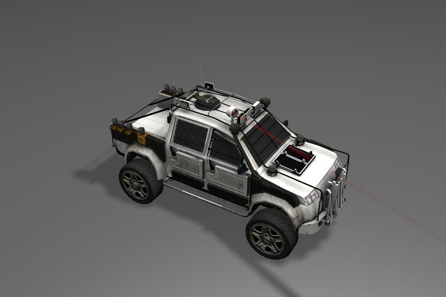 Car war royalty-free 3d model - Preview no. 14