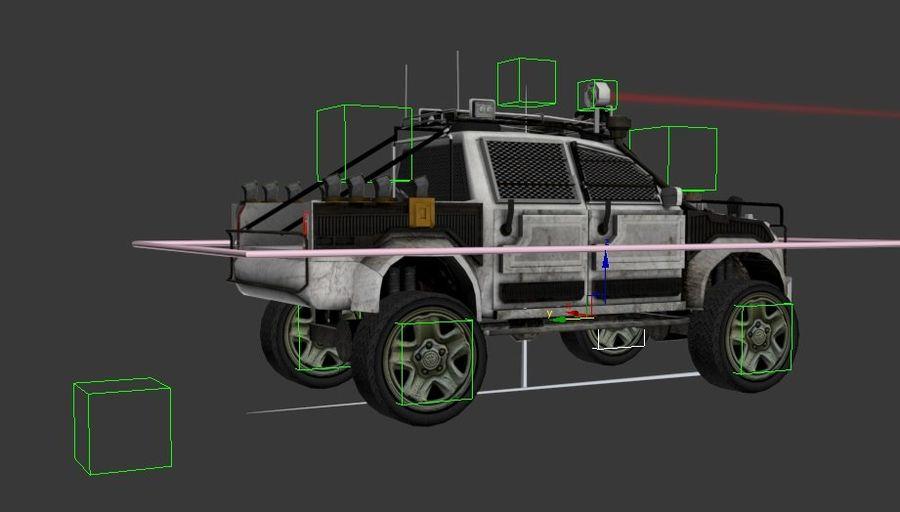 Car war royalty-free 3d model - Preview no. 4