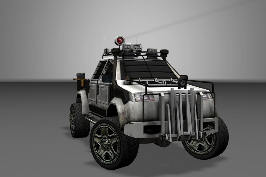 Car war royalty-free 3d model - Preview no. 1