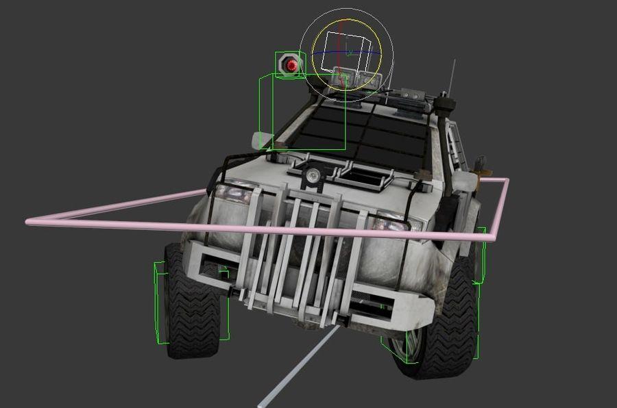 Car war royalty-free 3d model - Preview no. 7