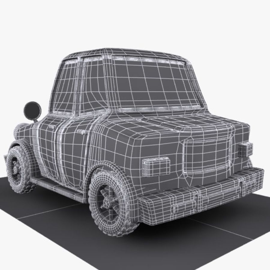 Cartoon Car 1 royalty-free 3d model - Preview no. 10