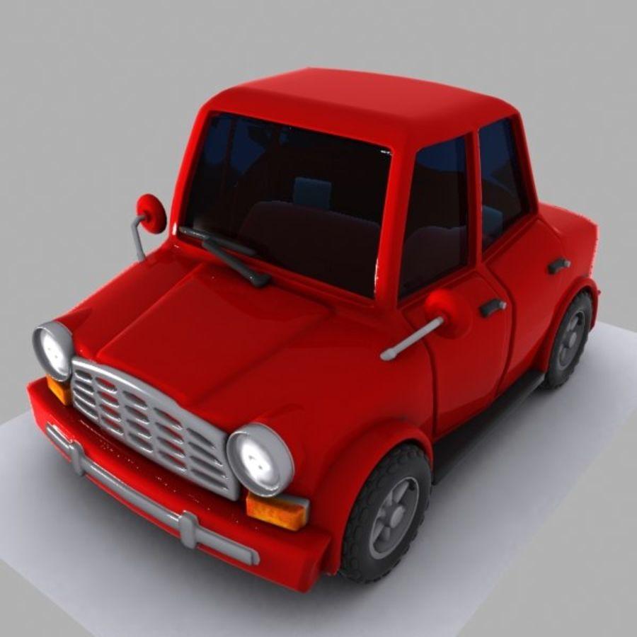 Cartoon Car 1 royalty-free 3d model - Preview no. 3