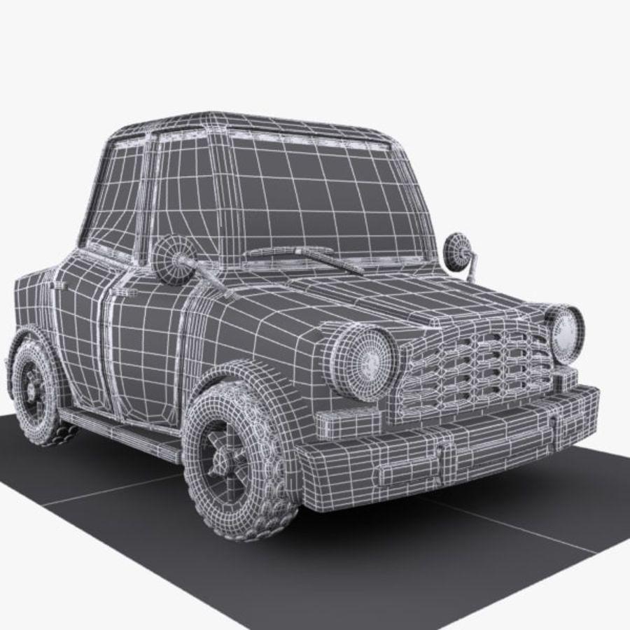 Cartoon Car 1 royalty-free 3d model - Preview no. 7
