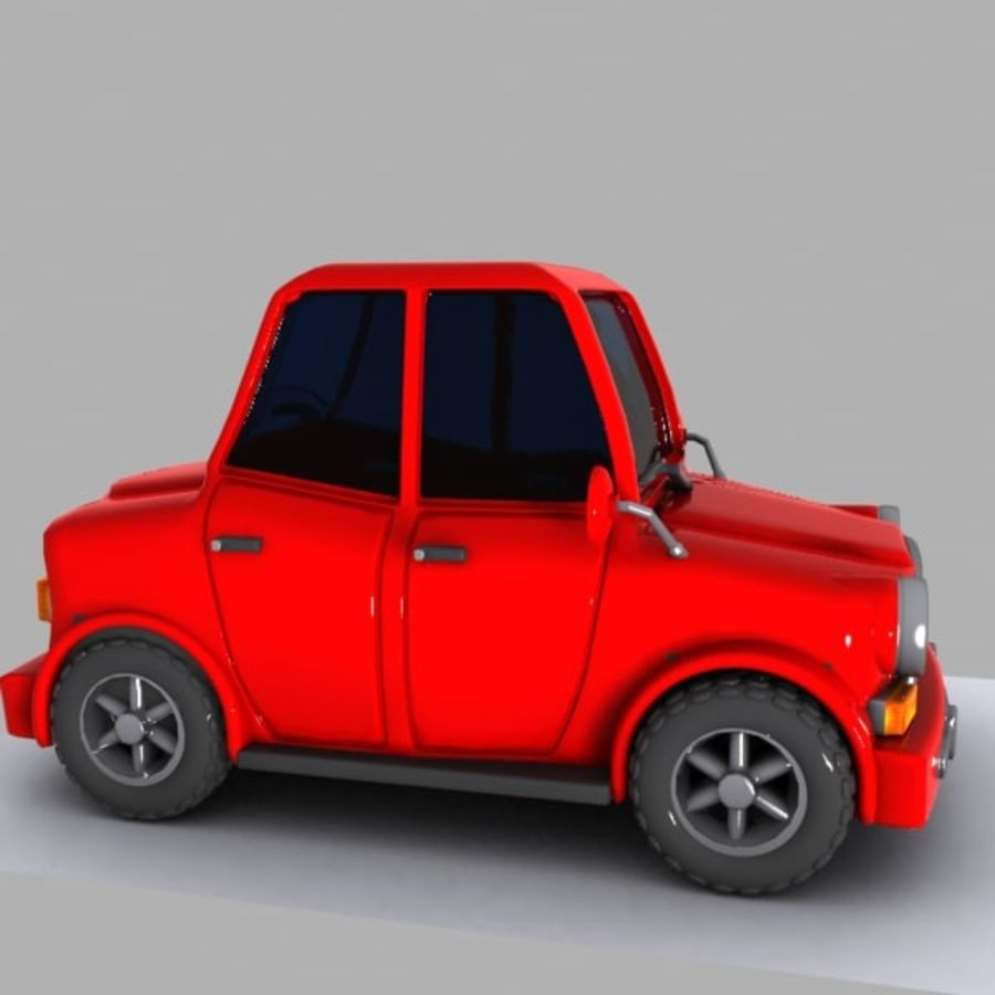 Cartoon Car 1 royalty-free 3d model - Preview no. 5