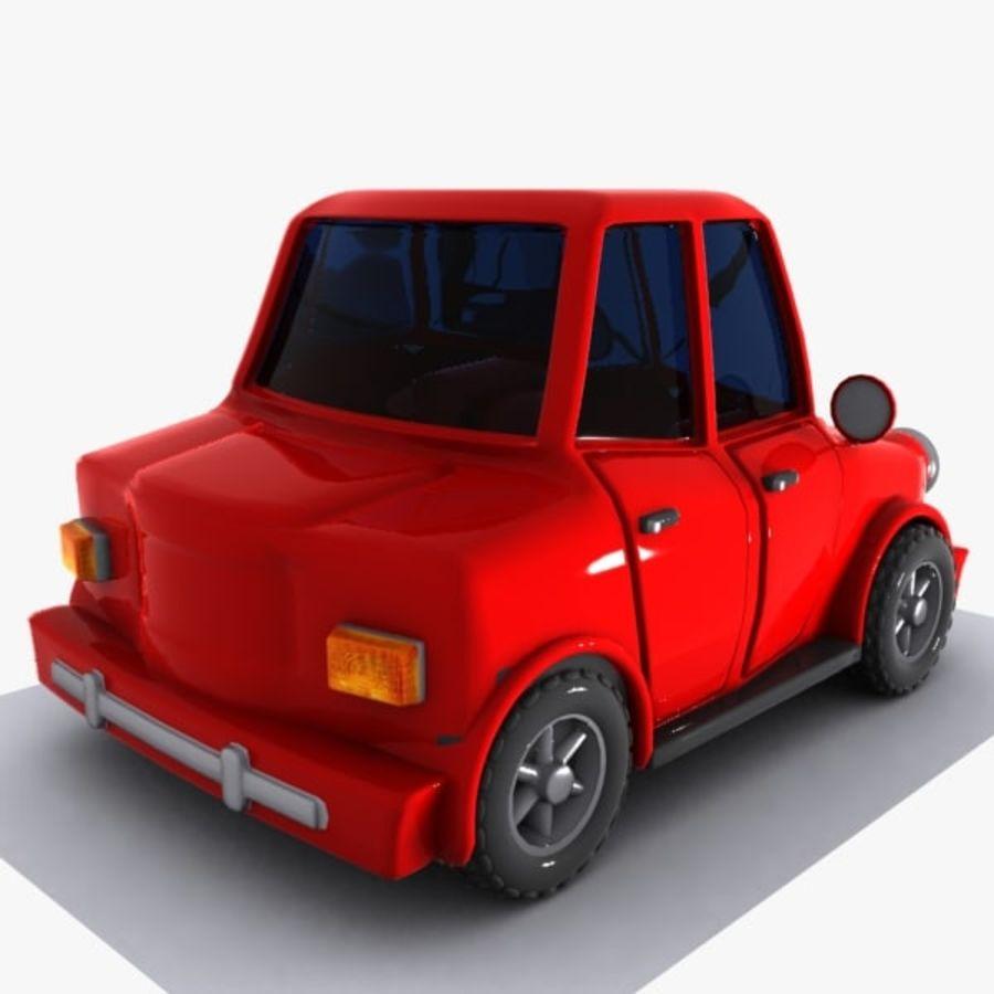 Cartoon Car 1 royalty-free 3d model - Preview no. 6