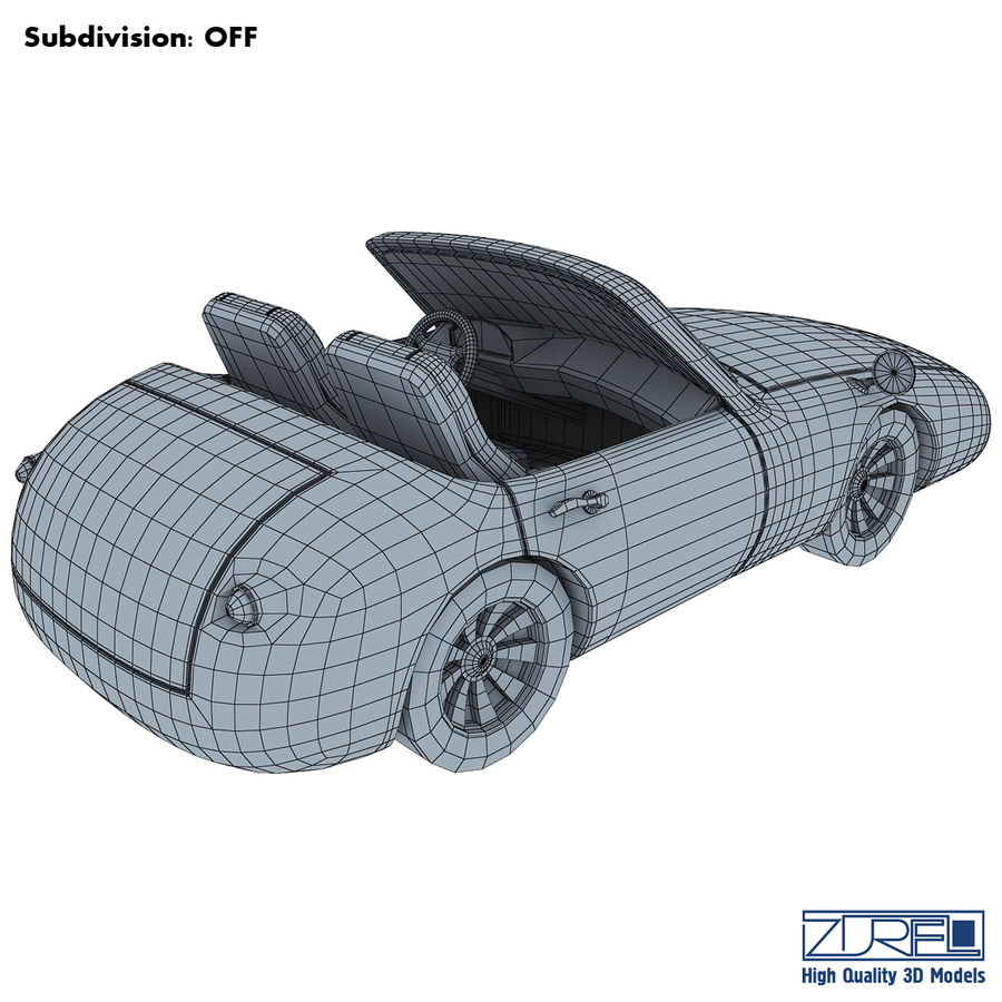 Sport car royalty-free 3d model - Preview no. 11