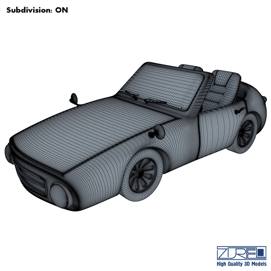 Sport car royalty-free 3d model - Preview no. 8