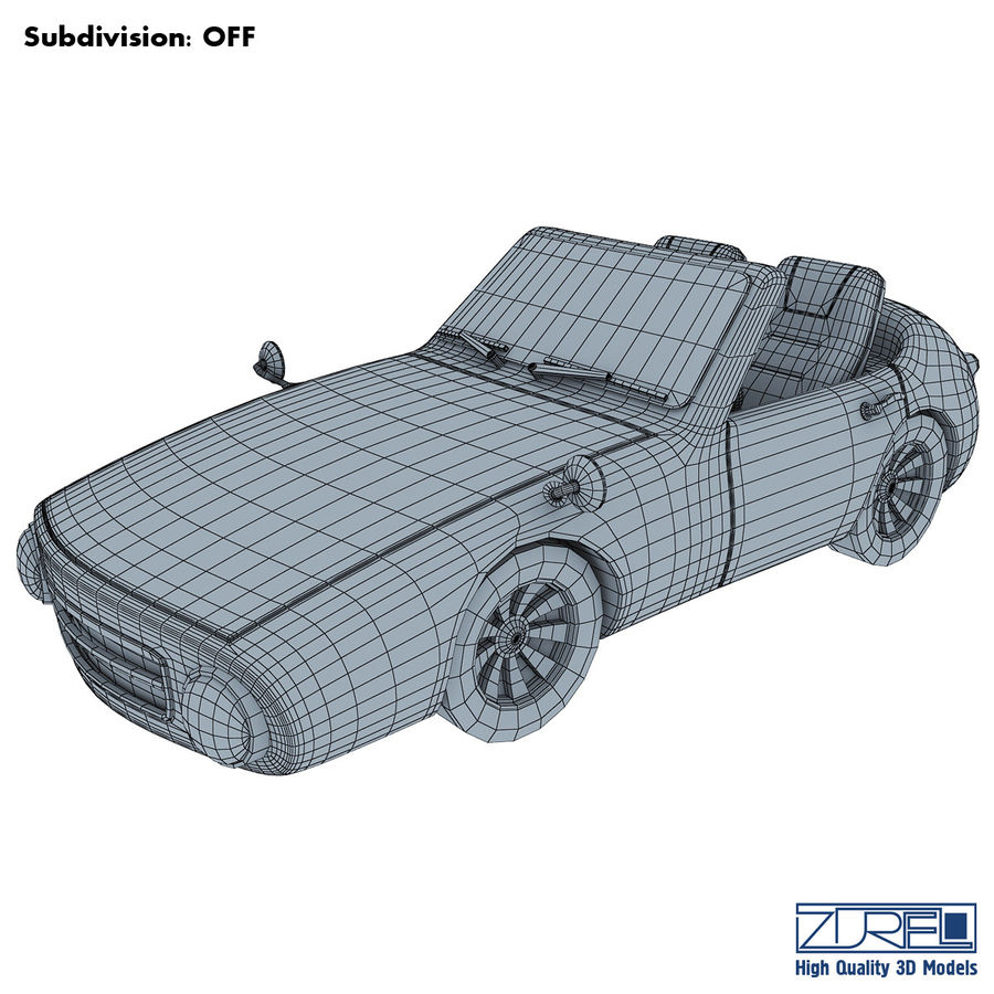 Sport car royalty-free 3d model - Preview no. 9