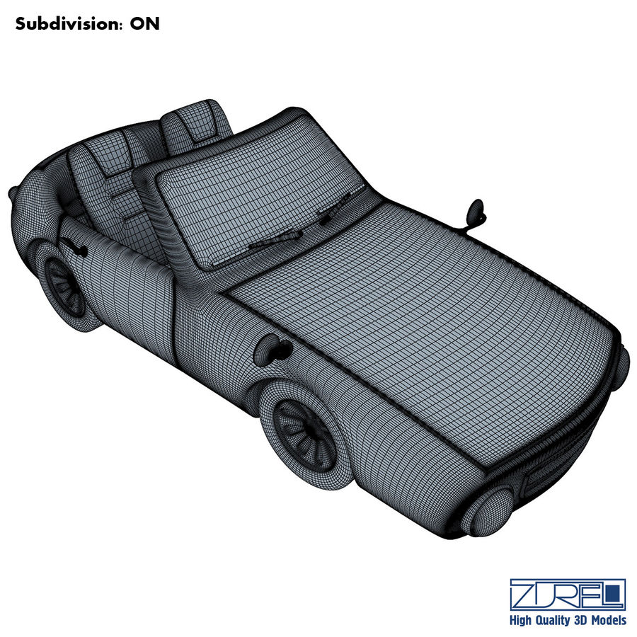 Sport car royalty-free 3d model - Preview no. 12