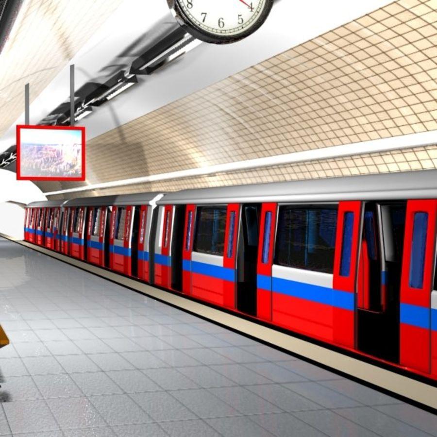 Cartoon Subway Station royalty-free 3d model - Preview no. 3