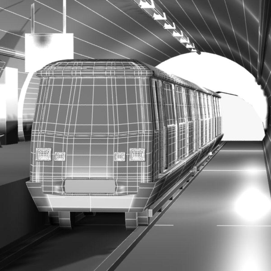 Cartoon Subway Station royalty-free 3d model - Preview no. 9