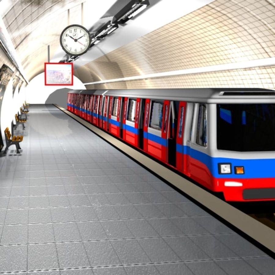 Cartoon Subway Station royalty-free 3d model - Preview no. 2