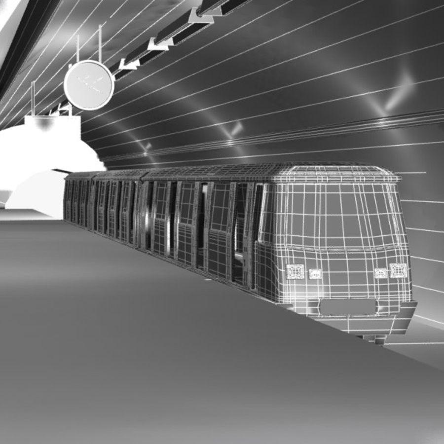 Cartoon Subway Station royalty-free 3d model - Preview no. 8