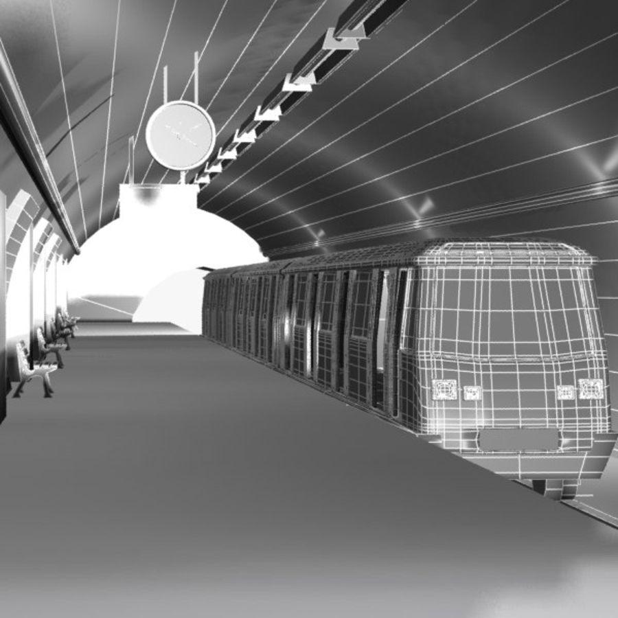 Cartoon Subway Station royalty-free 3d model - Preview no. 6