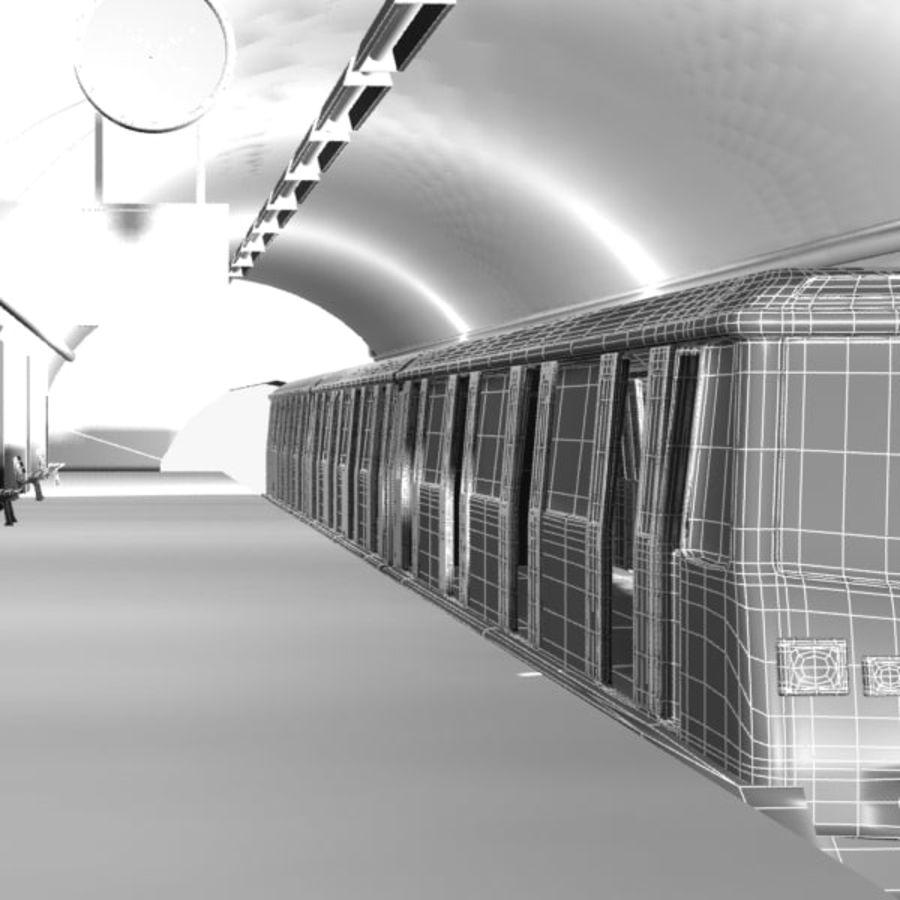 Cartoon Subway Station royalty-free 3d model - Preview no. 7