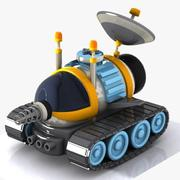 Cartoon Space Car 2 3d model