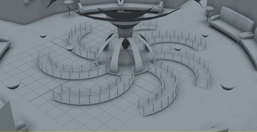 Museo royalty-free 3d model - Preview no. 2