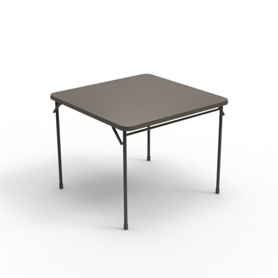 Card table royalty-free 3d model - Preview no. 1
