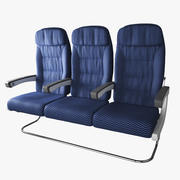 Assento de avião 3d model