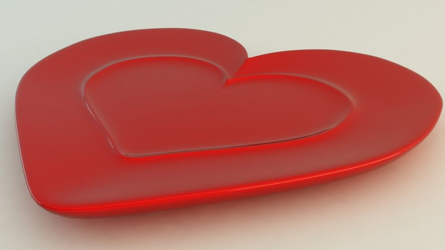 Heart Shaped Coffee Cup royalty-free 3d model - Preview no. 7