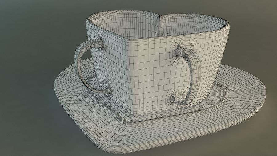 Heart Shaped Coffee Cup royalty-free 3d model - Preview no. 8